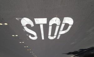 STOP in street